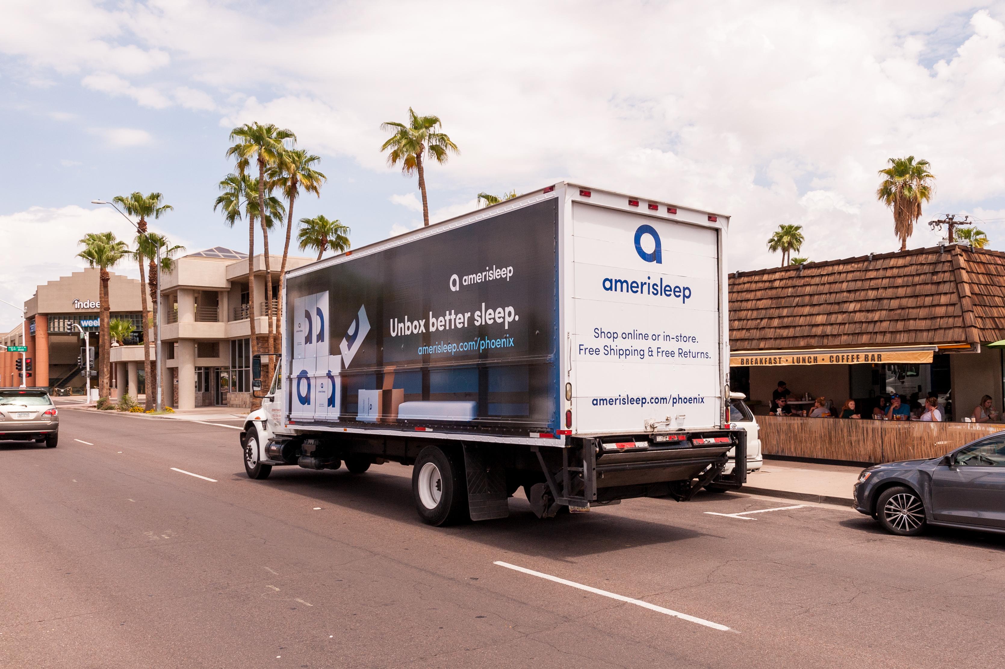 AmeriSleep Truck Advertising TSN